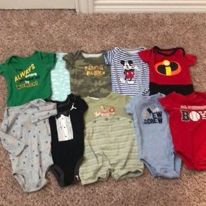 Baby Boys One Piece Lot Size 3-6 Months.